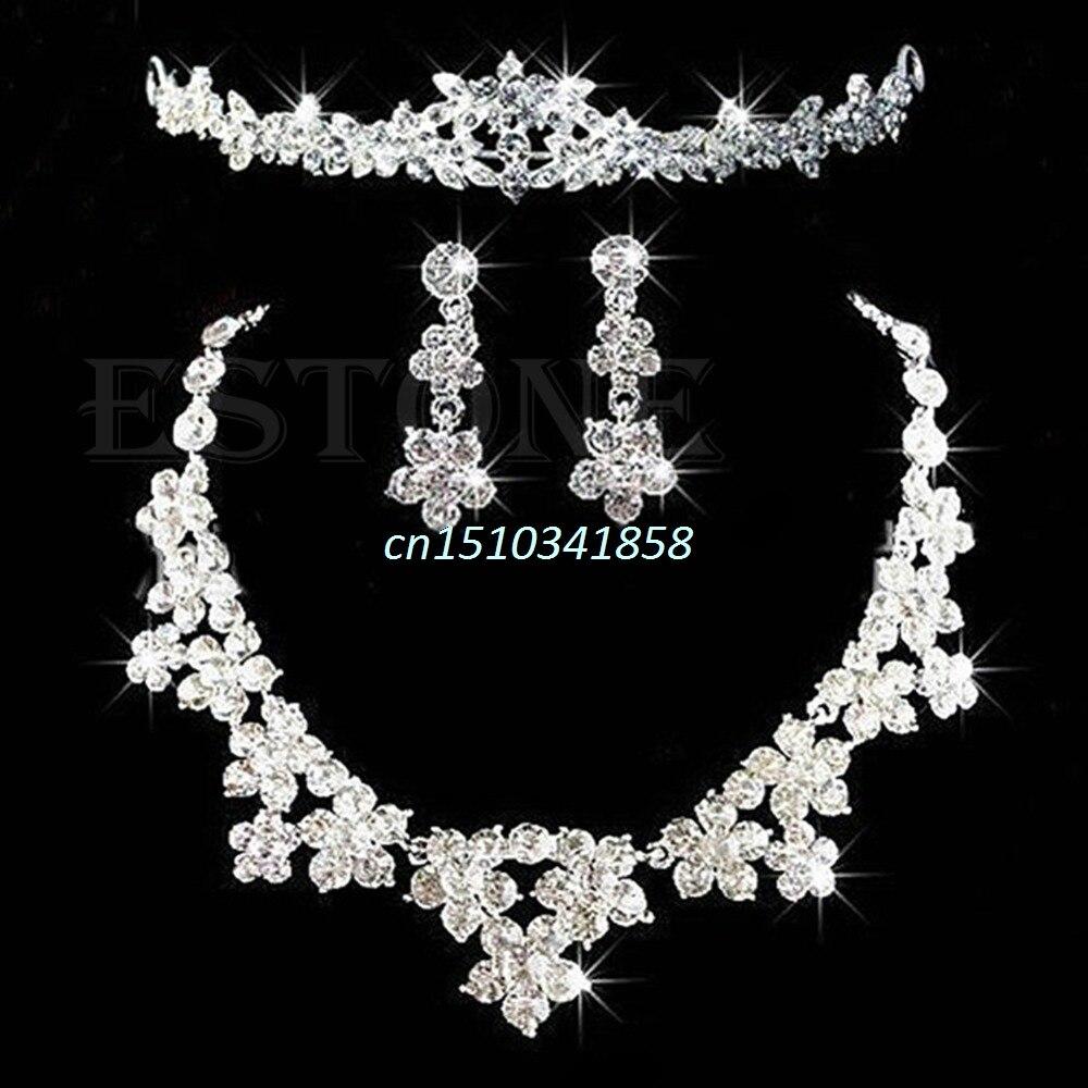 Brautschmuck set diadem  Online Kaufen Großhandel hochzeit tiara set aus China hochzeit ...