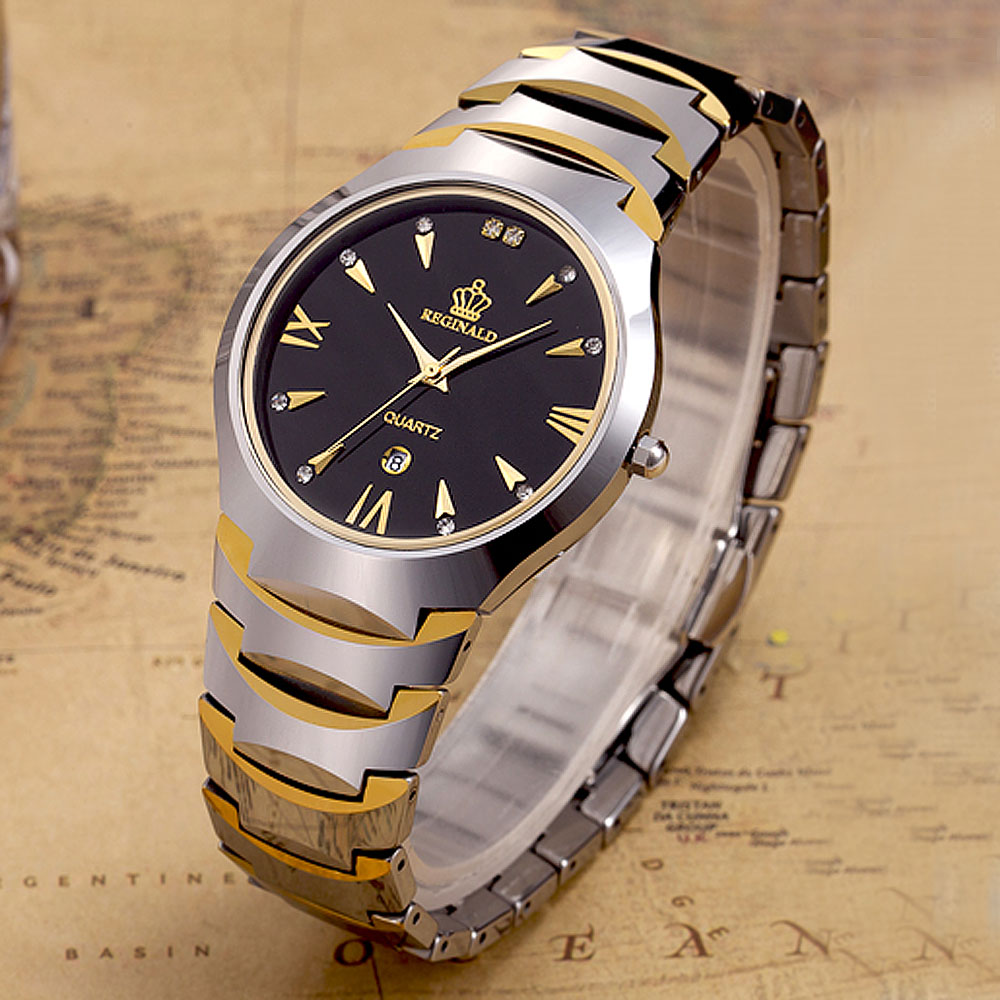 Top Brand Reginald Watch Fashion Men Watches Tungsten Steel Watches Men Luxury Business Quartz Wristwatch relogio masculino цена
