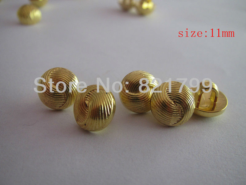 Buttons fashion ABS garment button planting golden buttons 10.16mm