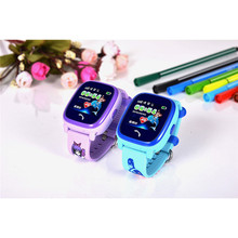 2017 New Cute 1.22″ HD Touch Screen Color Display LBS Kids Smart Watch IP67 Level Waterproof IOS Android System Kids Smart Watch