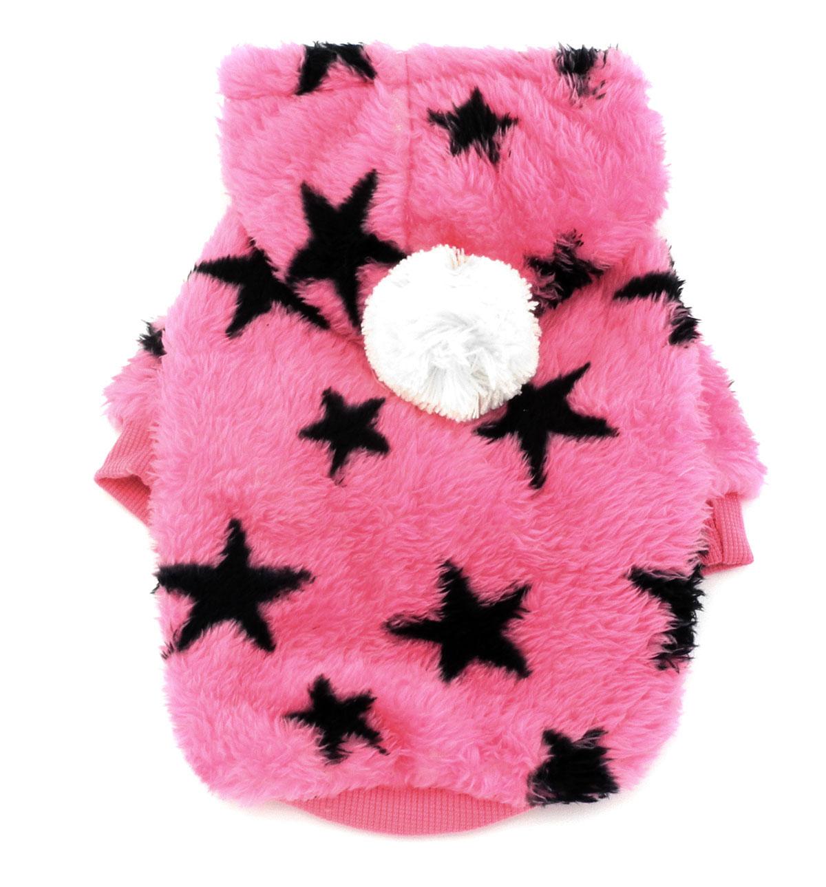 Small Dog Coat Pattern Stars Fleece Dog Sweaters Puppy Hoodies Warm Cat Pet Clothes Winter Dog Sweatshirts