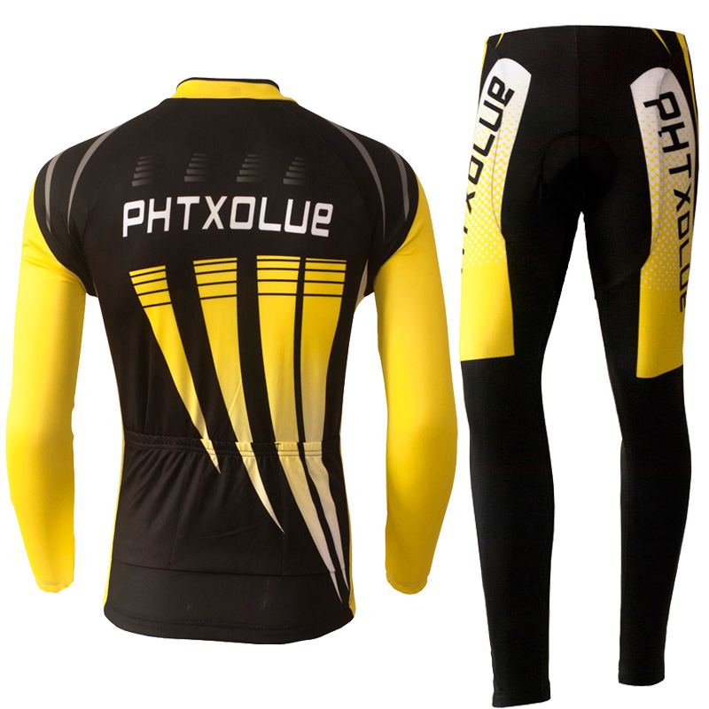 9842b9664 Phtxolue Autumn Winter Thermal Fleece Cycling Clothing Long Sets Bike  Clothing Spring Summer Bicycle Cycling Jerseys Sets QY071-in Cycling Sets  from Sports ...