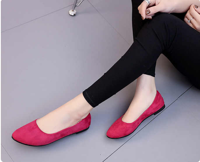 Vrouwen Flats Schoenen Faux Suede Loafers Snoep Kleur Schoenen Vrouw Bont Flats Warm Dames Schoenen Zwart Bootschoenen 2019