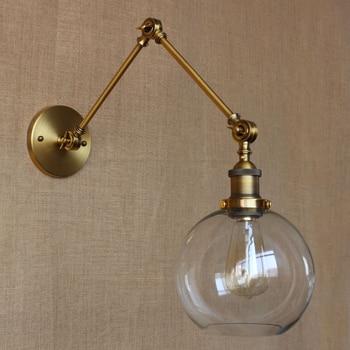 Styl Industrialny Retro Styl Kutego żelaza Kinkiet Regulowane Ramię Dekoracji Kinkiety Salon Badania Lampki Nocne Mx5131415