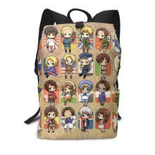 Hetalia Backpack Group Backpacks Men - Women School Bag Pattern Trending High quality Multi Pocket Student Bags