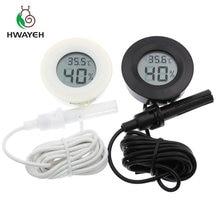 mini Humidity tester Hygrometer Thermometer Round Temperature meter probe for Aquarium Freezer Refrigerator with line