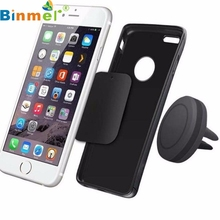 Top Quality Car Magnetic Air Vent Mount Holder Stand For iPhone Mobile Cell Phone GPS UF Universal Metal Plates JUN30