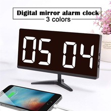 Digital LED Alarm Clock Time Display Thermometer Snooze Function Table Clock Wake Up Lighting Electronic Hone Decoration Timer