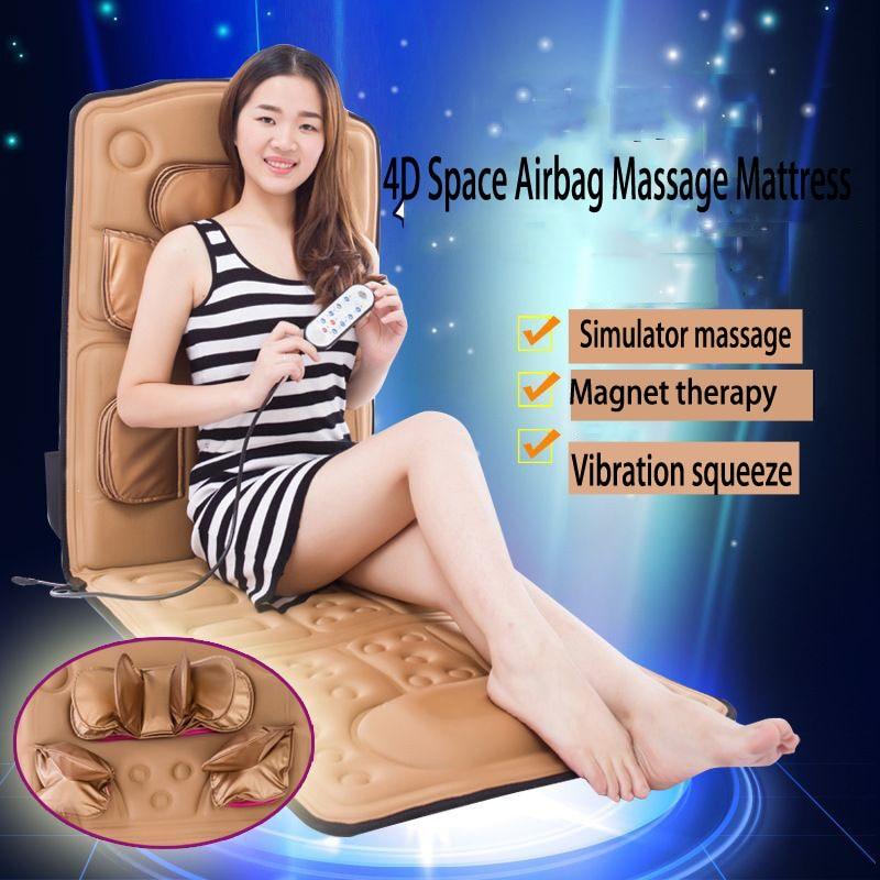 3D Ultrathin Electric Air Shiatsu Massager Heat Sauna Slimming Leg Body Neck Blanket Home Beauty Spa Vibration Massage Mattress : 91lifestyle