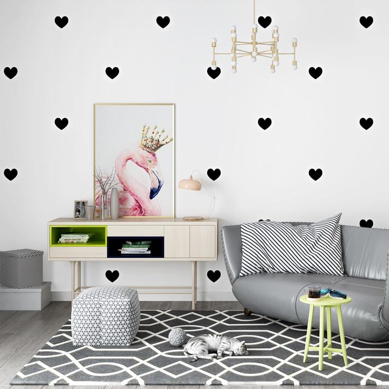 Papier peint moderne Ins aimant coeur forme papiers muraux décor à la maison rose noir Papel Contact pour salon chambre murs Mural