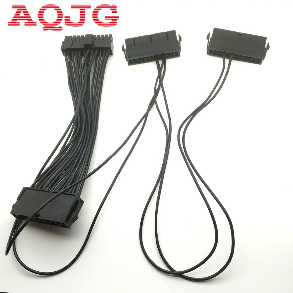 все цены на 24Pin 20+4pin Dual PSU ATX Power Supply Adaptor Cable Connector for Mining 30cm AQJG онлайн