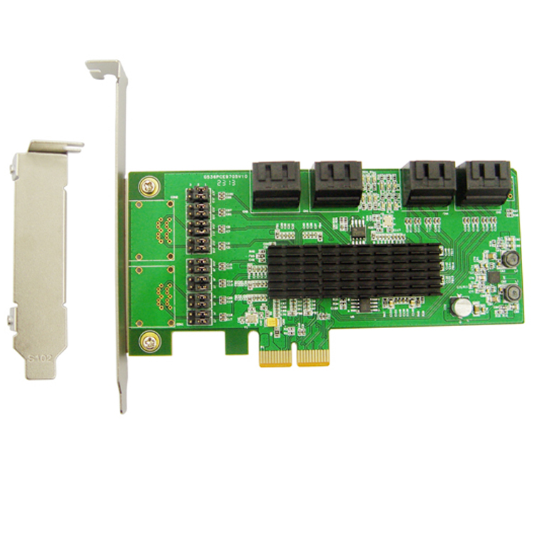 For PCI-E to 8 SATA3.0 expansion card SATA III 6G PCI Express card Marvell chip marvell 88se9215 chipset 4 ports sata 6g pci express controller card pci e to sata iii 3 0 converter pci low profile bracket