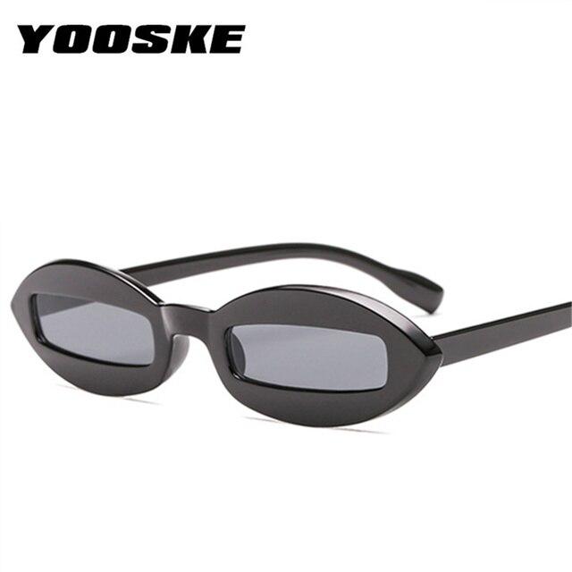 4e9a91c322 YOOSKE 2018 Fashion Design Women Sunglasses Small Oval Frame Sun Glasses  Unique Eyewear Funny Shades UV400