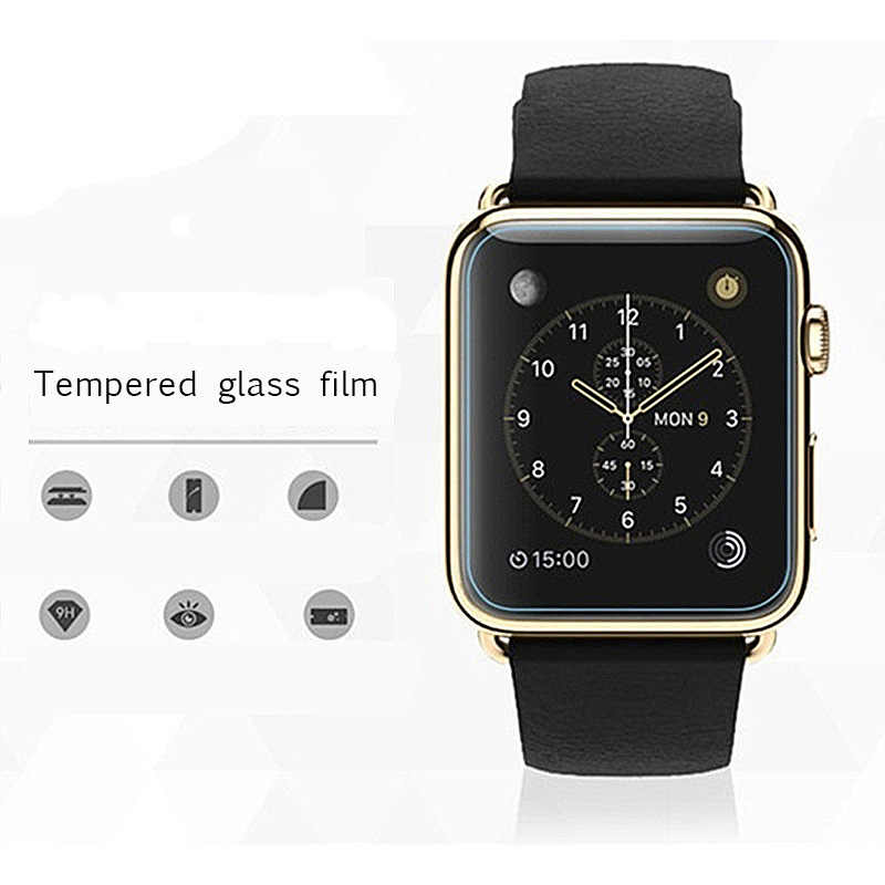 Screen Protector 2.5D 9H Tempered Glass For Apple Watch Series 1 2 3 4 38 42 40 44 mm Toughened Protective Glass Ultra Thin