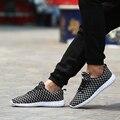 Горячие Продать весна дышащий клетчатый спортивная обувь человек моды 3 цвета зашнуровать zapatos hombre удобная мужская повседневная обувь
