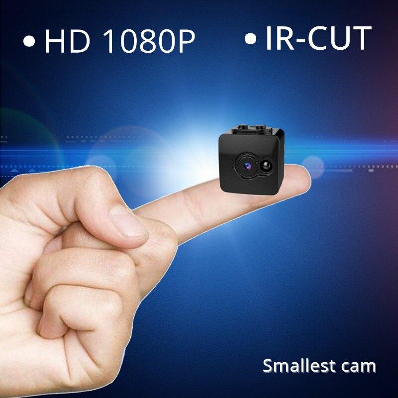 1080 p Full HD Mini Secret Caméra Infrarouge de Vision Nocturne IR-CUT Micro Caméscope Le Plus Petit Nounou Cam de Sécurité Portable Kamera DV DVR