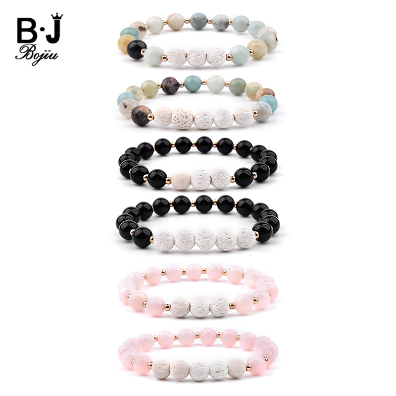 8mm Lava Stone Aromatherapy Essential Oils Diffuser Bracelet For Men Woman Elastic Chakra Healing Yoga Beads Bracelet Bangle 217 And Digestion Helping