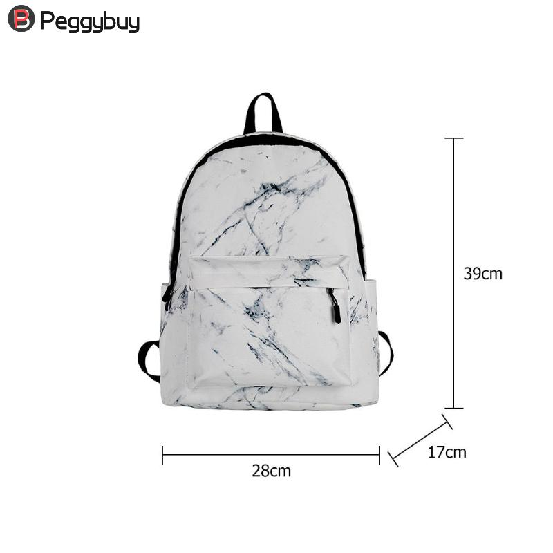 Image 5 - Fashion Unisex Backpack Women Men Canvas Backpack for Teen Girl Bags Casual Marbling Backpack Female Rucksack School Bag Mochila-in Backpacks from Luggage & Bags