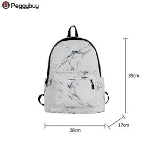 Image 5 - Fashion Unisex Backpack Women Men Canvas Backpack for Teen Girl Bags Casual Marbling Backpack Female Rucksack School Bag Mochila