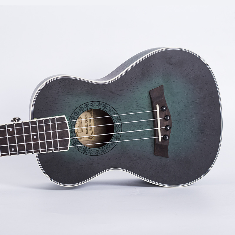 Acoustic Electric Concert Ukulele 23 Inch Hawaiian Guitar 4 Strings Ukelele Guitarra Mahogany Handcraft Green Musical Uke two way regulating lever acoustic classical electric guitar neck truss rod adjustment core guitar parts