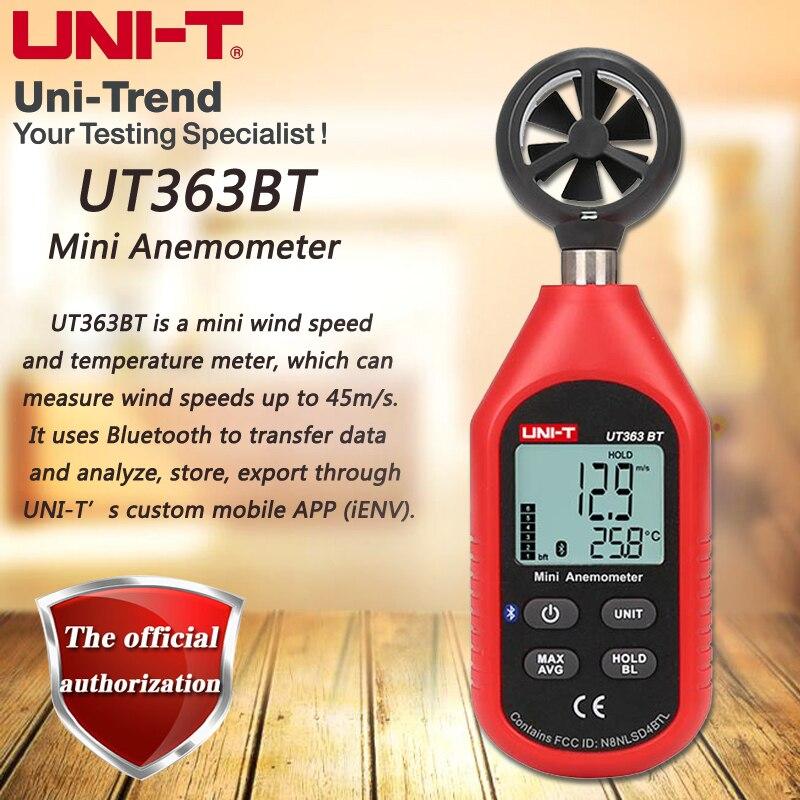 UNI-T UT363BT Mini Anemometer/Bluetooth Communication; Industrial/Home Anemometer, LCD Backlight, Low Battery IndicationUNI-T UT363BT Mini Anemometer/Bluetooth Communication; Industrial/Home Anemometer, LCD Backlight, Low Battery Indication