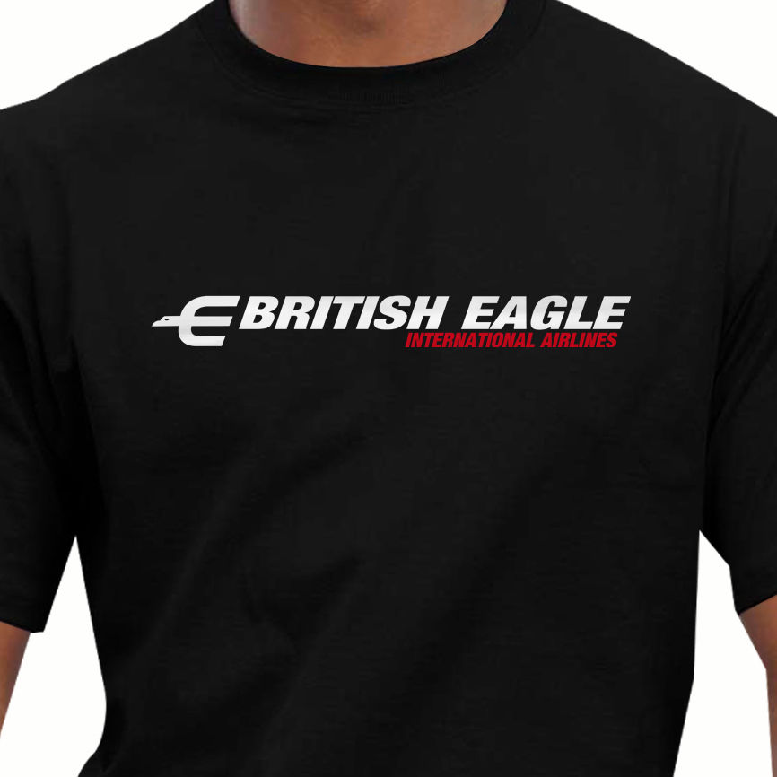 2018 Hot Sale 100% Cotton Aeroclassic Retro British Eagle Airways Design T-Shirt Summer  ...