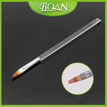 BQAN 6# New Transparent Acrylic Handle Nail Art Brush Painting Ombre Brush