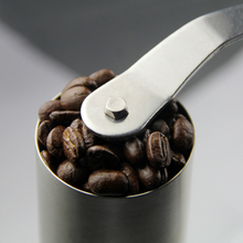 Tuansing Manual Coffee Grinder Precision Brewing Brushed Stainless Steel Conical Burr Grinder Home Kitchen Grinding Tool