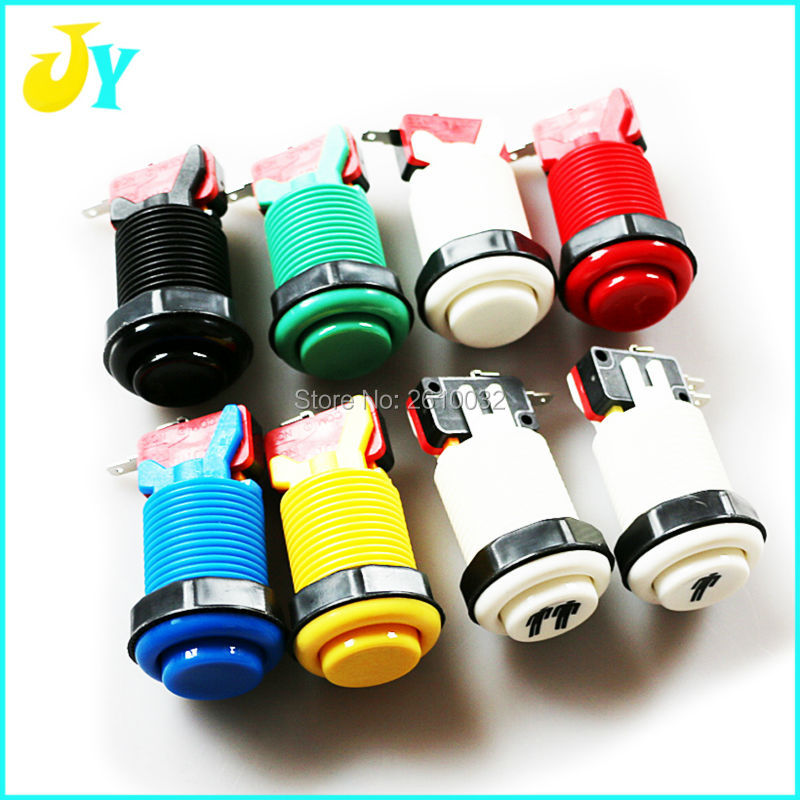 100 pcs customized color 6 colors available arcade parts buttons with microswitch american style push button