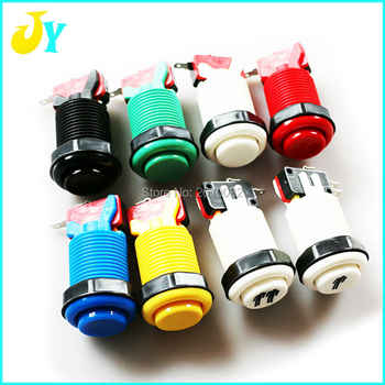 100 pcs customized color 6 colors available arcade parts buttons with microswitch american style push button - SALE ITEM Sports & Entertainment