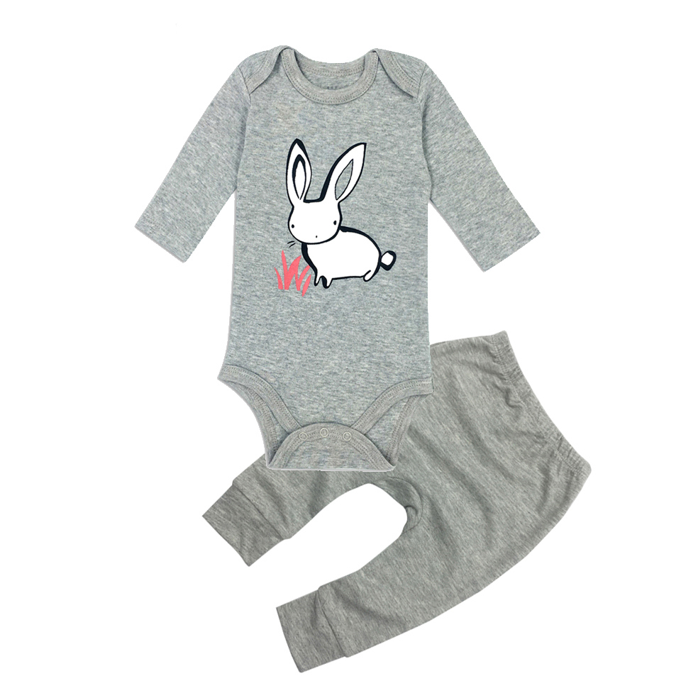 2pcs Baby Bodysuits+Baby pants suit 100% Cotton O-neck Long Sleeved Clothing Child Garment Toddler Underwear pant Infant Clothes ...