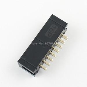 Image 5 - Lot başına 100 adet 2.54mm 2x8 Pin 16 Pin düz erkek örtülü PCB kutusu header IDC soket