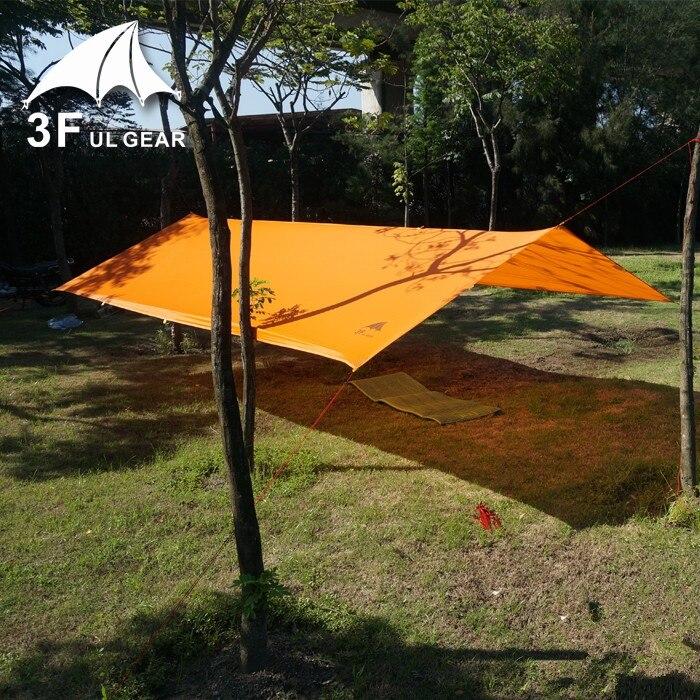 Nouvelle bâche 3F Ul 15D bâche en silicone ultra-léger abri soleil tente de plage Pergola auvent auvent taffetas bâche Camping Sunshelter