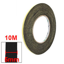 Uxcell 5mm & 10mm Width 1mm Thickness Sponge Single Side Foam Tape Black, Yellow 10 M Insulation 1PCS Hot Sale