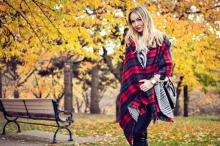 Women's Warm Winter Oversized Tartan Scarf Wrap Shawl Fringe Houndstooth Reversible Plaid Checked Scottish Grid Pashminas