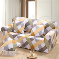 Modern Minimalist Plaid Printing Removable Anti dirty Sofa Protector Slipcover Cover Spandex Stretch Wrap Couch Decorative Case