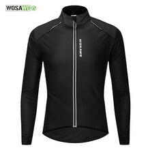 WOSAWE водоотталкивающие Куртки из искусственной кожи для велоспорта, светоотражающие майки для велоспорта, зимнее флисовое ветрозащитное пальто, одежда для велоспорта