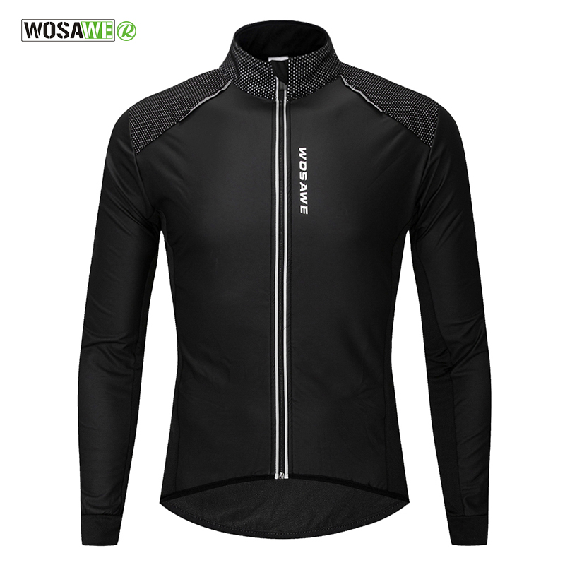WOSAWE Water repellent PU Cycling Jackets Reflective Bicycle Bike Jerseys Winter Fleece Windproof Coat Ciclismo Cycling Clothing cycling jacket jerseys cycling clothing cycling jersey jacket - title=