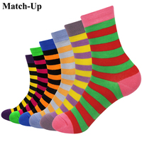 Match Up Girl Combed Cotton Brand Socks Woman Funny Cotton Socks 6 Pairs Lot