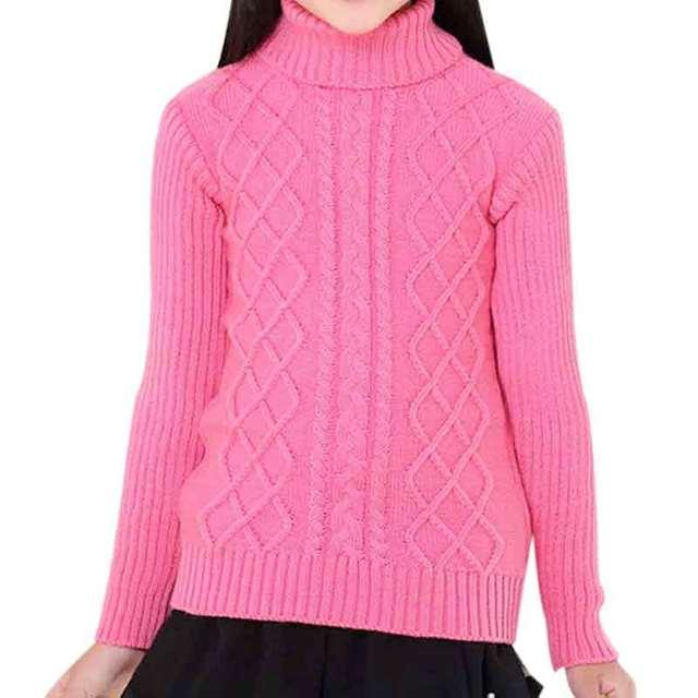 2016 Nuevos Niños de Invierno Suéter de La Muchacha Solid Manga Larga Casual Outwear Todo-Fósforo del Cuello Alto de Punto de Tocar Fondo Suéteres de 10 Colores