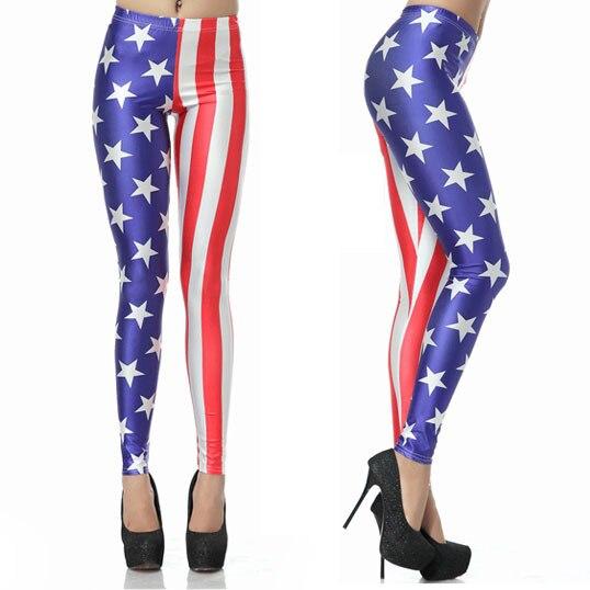 Newest Arrival Brand Dress Fashion American Flag Print Legging  W3026 Cheap Price Drop Shipping