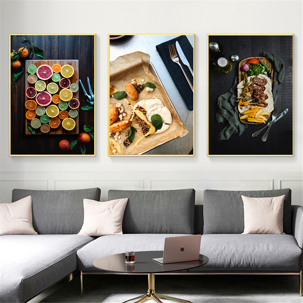 US $11.11 11% OFFModern Canvas Art Wall Picture For Dining Room Food Print  Poster Nordic Home Decoration Kitchen Artwork Painting No FramedPainting &
