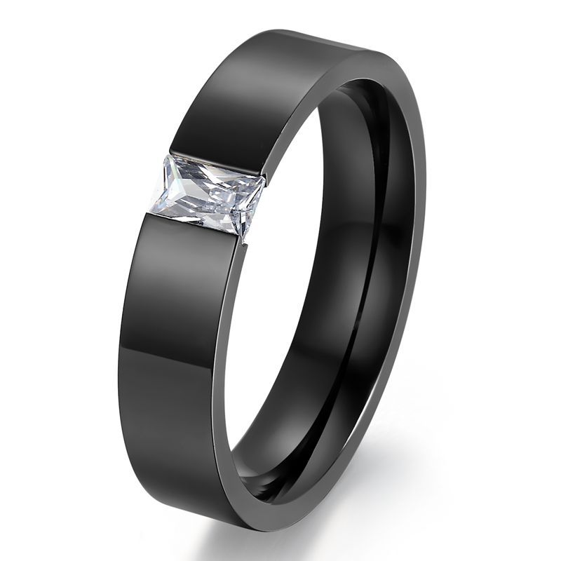 Classic Crystal Wedding Rings For Women Men Austrian Crystal Stone Stainless Steel Gold Black Ring Crystal Wedding Ring Wedding Rings For Womenwedding Rings Aliexpress