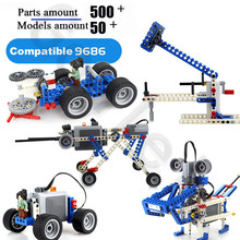 500Pcs/Lot MOC 9686 spare parts domestic technology building block mechanical teaching aid set motor battery box Fit For EV3