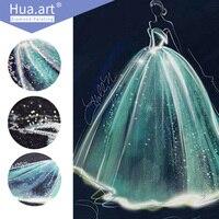 Hua Art 5d DIY Diamond Painting Wedding Full Diamond Cross Stitch 3d Embroidery Needle And Thread