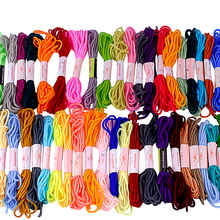 Cross Stitch thread Mix Colors Cross Stitch Cotton Sewing Skeins Embroidery Thread Floss Kit for DIY Sewing Tools Accessories sewing thread cross stripes cabbie hat