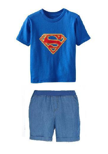 2016 Boys Clothing Set Children Sport Suits Children's Clothing Sets For Kids Cotton Clothes Set Boy T-Shirt+ Short Pant