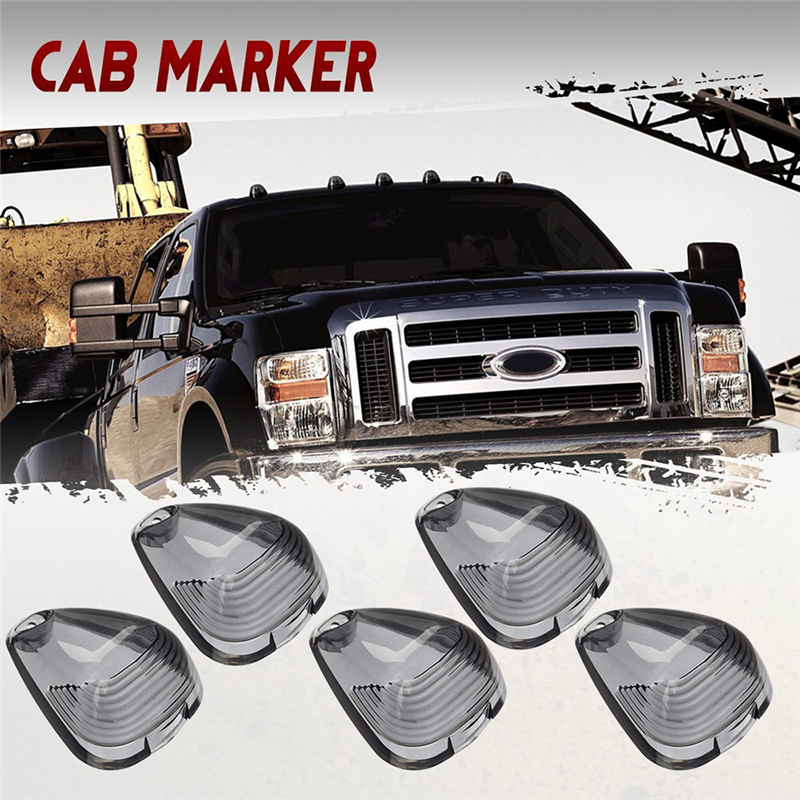 5pcs car marker lights Smoked LED Car Cab Roof Marker Lights Black Smoked Lens/Lamp/car external lights For Ford Pickup truck