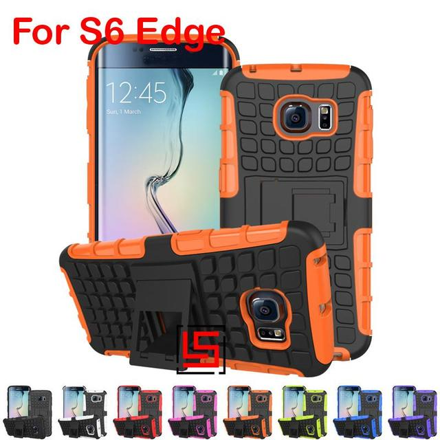 New Armor Rugged Hybrid Heavy Duty Hard PC TPU ShockProof Back Phone Case carcasa Cover Cove Bag For Samsung Galaxy S6 Edge