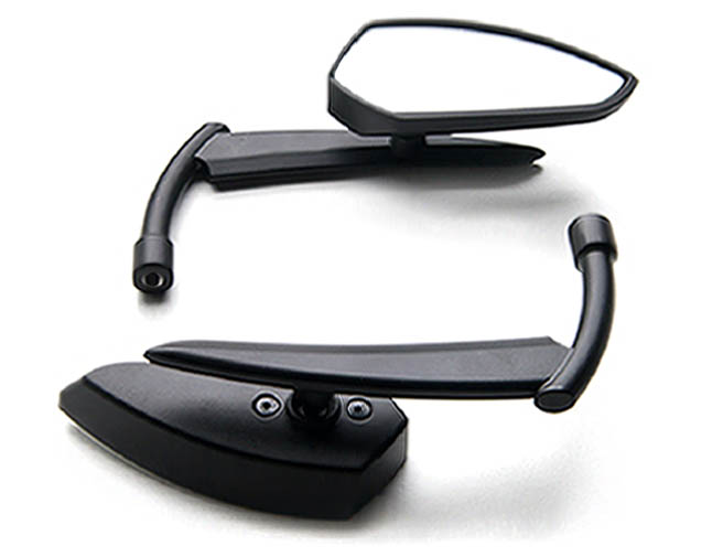 Custom Rear View Mirrors Black Pair For Honda Gold Wing Goldwing 1200 1500 1800